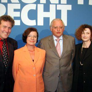 Kreisvorsitzender Thomas Ostermann, Mechtild Rothe MdEP, EU-Kommissar Günter Verheugen und Landratskandidatin Ulrike Boden.