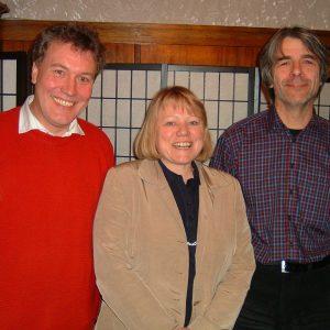 Ortsvereinsvorsitzende Maria Vornholt und die beiden Bewerber zur Landtagswahl Thomas Ostermann und Hans Feuß.