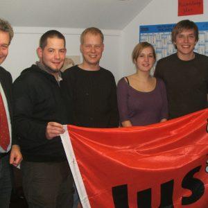 Der im November 2009 gewählte Vorstand der Jusos